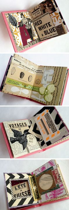 I'm loving art journal pages that include collage. It's like the non-sketcher's form of art journaling.
