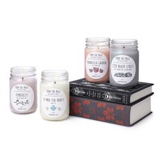 LITERARY CANDLES. Either the Alice in Wonderland one or the Pride and Prejudice one.