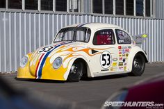 Herbie-Themed '68 Volkswagen Beetle Dragster. | Photos by Brad Lord - SPEEDHUNTERS.
