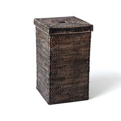 The durable frame of our Modern Weave Basket is covered in tightly handwoven rattan peel and stained in a natural tea finish for a textural effect. Large Baskets, Baskets On Wall, Storage Baskets, Basket Weaving, Hand Weaving, Tall Basket, Harvest Basket, Closet Built Ins, Hamper Basket
