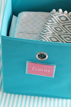 Tips for Labeling Canvas Bins