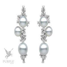 Be the center of attraction take a look at this 18k white gold with 3.86cts diamonds & South Sea pearls 10-13mm by @yokolondonpearls #purplebyanki #diamonds #luxury #loveit #jewelry #jewelrygram #jewelrydesigner #love #jewelrydesign #finejewelry #luxurylifestyle #instagood #follow #instadaily #lovely #me #beautiful #loveofmylife #dubai #dubaifashion #dubailife #mydubai #Earrings #Pearls