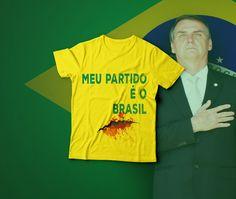 Camisa Meu Partido É o Brasil - Facada Bolsonaro. Camisas Bolsonaro. camiseta  meu partido af74f91548aa8
