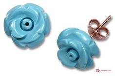 Extra Turquoise Earrings rose 12mm in Gold 18K [various clasps] Orecchini Turchese Extra rose 12mm in Oro 18K [varie chiusure] #jewelery #luxury #trend #fashion #style #italianstyle #lifestyle #gold #silver #store #collection #shop #shopping #showroom #mode #chic #love #loveit #lovely #style #beautiful #pretty #madeinitaly #bestoftheday #earrings #earringsforsale