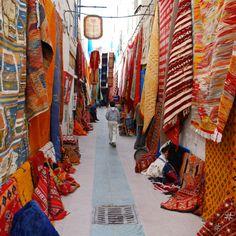 Carpet lane !   Souk Marrakech Morocco ...