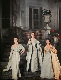 Christine Dior, Jean Patou & Jeanne Lanvin, 1955 | Flickr - Photo Sharing!