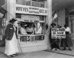 Vote Yes On Women Suffrage Vintage 8x10 Reprint Of Old Photo