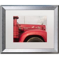 Trademark Fine Art Mack Truck Canvas Art by Jason Shaffer, White Matte, Silver Frame, Size: 16 x 20, Assorted