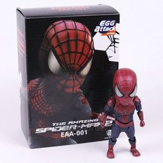 Egg Attack The Amazing Spider-man 2 Spiderman EAA-001 PVC Action Figure Collectible Model Toy