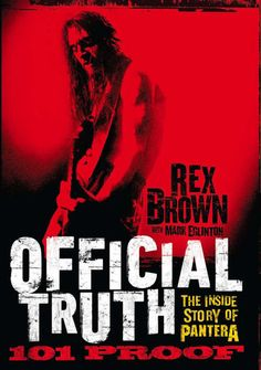 Official Truth, 101 Proof - Rex Brown   Music  552145307: Official Truth, 101 Proof - Rex Brown   Music  552145307 #Music