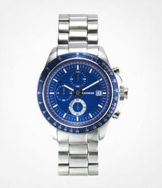 CHRONOGRAPH BRACELET WATCH - SILVER at Express