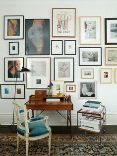 Share Tweet Pin Mail   Ya know those cool eclectic gallery art walls? The ones with lots of different sized images with mismatched frames ...
