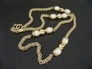 Chanel Vintage Multi /pearl /bold Long Chain Necklace