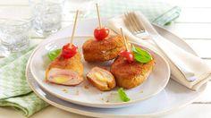 Für große, aber auch kleine Gäste ein Genuss. Cordon bleus schmecken jedem. Mit ihrer Größe sind sie für das Partybuffet optimal.