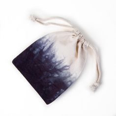 DIP DYED BAG This small drawstring bag has been dip dyed in our Brooklyn studio and is perfect for storing odds and ends or wrapping up a special gift.