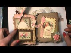 This album is for sale in my Zibbet shop http://www.zibbet.com/shabbybeautiful/artwork?artworkId=1204310  Shabby Chic Lovely Ladies mini chipboard Scrapbook album - YouTube
