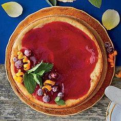 Cranberry Cheesecake with Cranberry-Orange Sauce | MyRecipes.com