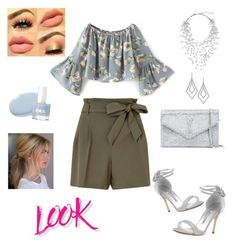 """Blue light x silver casual ♥ by ria werakari"" by ria-werakari on Polyvore featuring Miss Selfridge, Manolo Blahnik, Yves Saint Laurent, Phase Eight, ABS by Allen Schwartz and NYX"