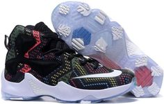 official photos 002eb 7c927 Nike Lebron 13 Black Pink Yellow Blue White For Kids Adidas Shoes, Adidas Basketball  Shoes