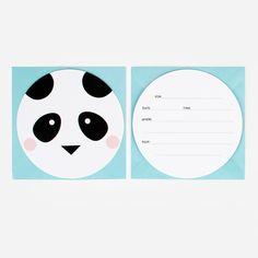 8 invitations - Mini animals