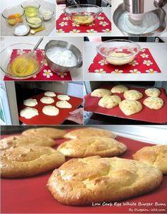 Low Carb Egg White Burger Buns (South Beach Phase 1 Recipe) | Diet Plan 101