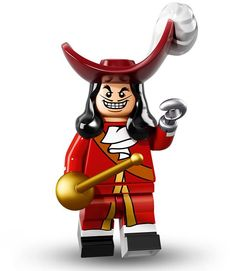 [X] Captain Hook - LEGO® Minifigures The Disney Series (Item 71012) | Sched. Release Date = 2016/0501