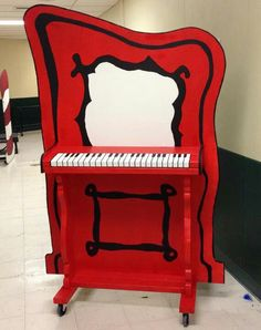 Something cool we could do to the piano, that's, Seuss themed.