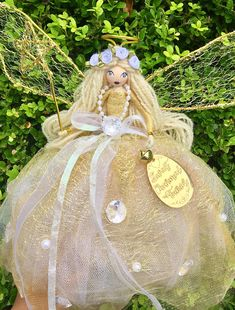Handcrafted flower fairy doll I made and painted the face manually.. perfect for all occasion