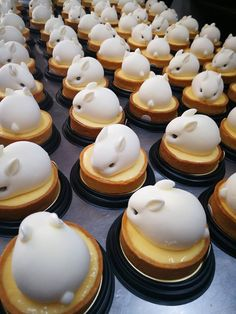 Desserts Jiggly 'Bunny Tarts' Are Possibly The Cutest Pastries You've Ever Seen Mini Desserts, Delicious Desserts, Dessert Recipes, Yummy Food, Plated Desserts, Dessert Kawaii, Cute Baking, Snacks Für Party, Cafe Food
