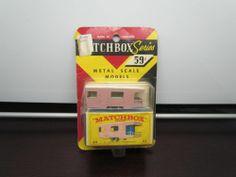 Vintage 1965 Matchbox Lesney #23D TRAILER CARAVAN Pink Mint on Card MIP Unopened