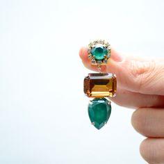 Orecchini a clip realizzati a mano con Swarovski Crystals