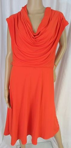 """JESSICA SIMPSON"" SOFT COWL NECK ORANGE DRESS - PLEASE SEE ALL PICTURES"
