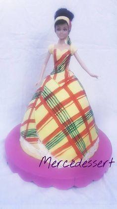 Gâteau poupée créole