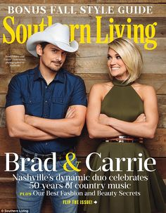 Carrie Underwood and her CMAs co-host Brad Paisley dish in cover shoot