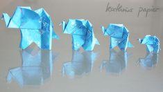 Elefanten aus Kathrins Papier - Anleitung von Leyla Torres von Origamispirit. Die Anleitung ist super zu verstehen!