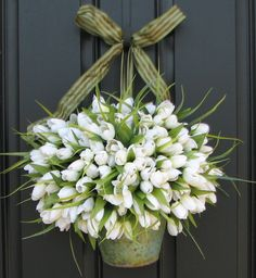 Tulip front door arrangement.