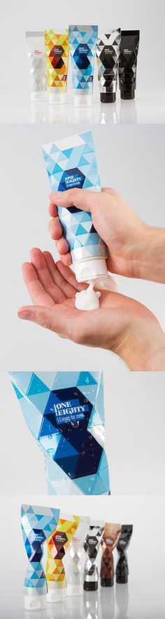 OneEighty by Nikolo Kerimov, via Behance *** The packaging is a designed to be a sculptural, beautiful and functional. By using the packaging, the packaging shapes into a different forms. The shapes geometrical shapes live through the product and creates a whole new consumer experience.