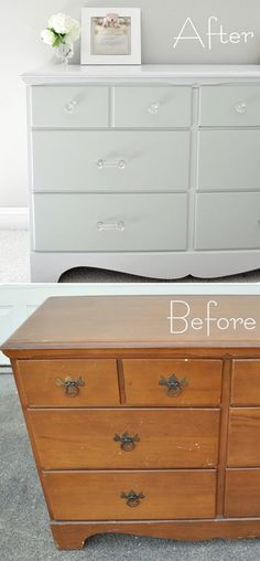 to Paint Furniture DIY - Wood Painting - Full Step-by-Step Tutorial with lots of tips and information. This woman is a genius with paint!DIY - Wood Painting - Full Step-by-Step Tutorial with lots of tips and information. This woman is a genius with paint! Refurbished Furniture, Repurposed Furniture, Furniture Makeover, Bedroom Furniture, Diy Bedroom, Furniture Refinishing, Bedroom Sets, Furniture Repair, Modern Furniture