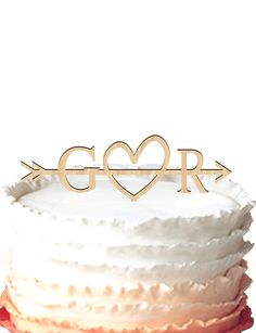Buythrow Rustic Wedding Cake Topper-wood Cake Topper Initial Cake Topper with Heart in Any Letter a B C D E F G H I J K L M N O P Q R S T U V W X Y Z -- Buy NOW before out of stock... : Baking desserts tools
