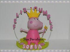 Peppa Pig Adorno de torta en porcelana fria!