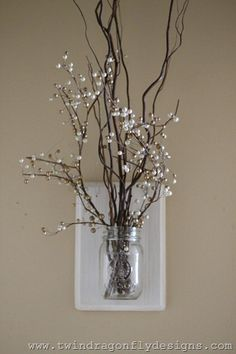 Dragonfly Designs: Winter Mason Jar Holder