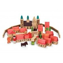 Wooden village - great with train sets!
