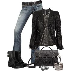 23 Rock-Chic-Rocker-Chick-Spaß im Trendstil Hipster Outfits, Mode Outfits, Chic Outfits, Fashion Outfits, Girl Outfits, Rocker Chick, Mode Style, Style Me, Trendy Style