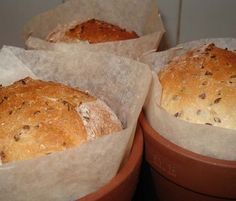 Flower pot breads are the best. Especially with sweet brown breads and honey butter - yum :)