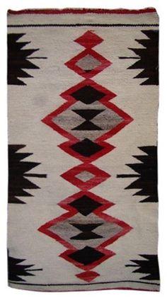 Navajo Rug in black and red circa 1920 Native American Blanket, Native American Rugs, Native American Patterns, Native American Design, Native Design, American Indian Art, Native American Indians, Native Americans, Navajo Weaving