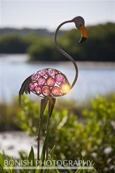 Glass Flamingo Yard Ornament - Low-Key Hideaway Motel and RV Resort, Cedar Key Florida Cedar Key Florida, Old Florida, Yard Flamingos, Flamingo Garden, Rv Homes, Yard Ornaments, Florida Living, Pink Feathers, Low Key
