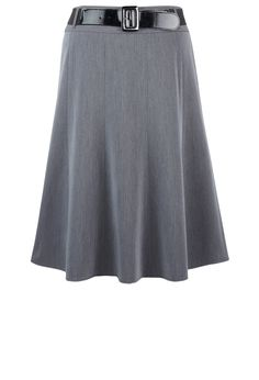 Plus Size Belted Midi Skirt | Plus Size Skirts | Avenue