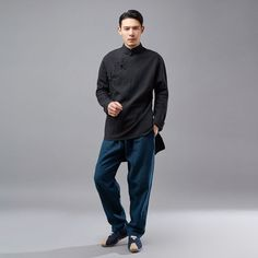 Mens Linen Outfits, Linen Tops, Cool Fabric, Hanfu, Asian Fashion, Cropped Pants, Sleeveless Blouse, Normcore, Mens Fashion