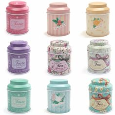 Butterfly Knot And Line drawing Style Kitchen Tea Sugar Coffee Storage Tin Box