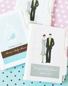 Elite Design Baby Shower Notebook Favors. http://www.bluerainbowdesign.com/WeddingFavorProduct.aspx?ProductID=PR090510179836JeKeloXimenaBRD96843